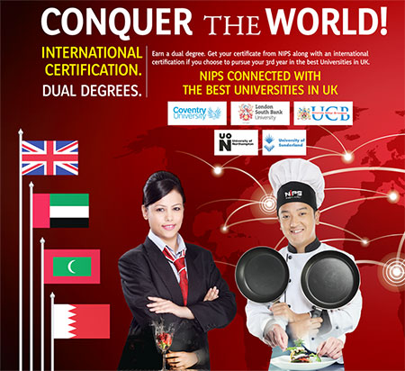 International certification with dual degrees for hospitality management