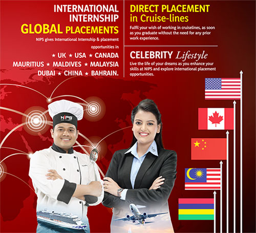 NIPS Hotel Management international internship with global placements