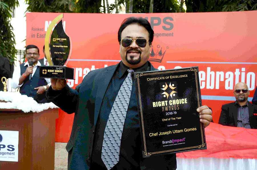 NIPS deputy director Chef Joseph U Gomes received right choice awards